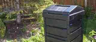 Garden composting bin
