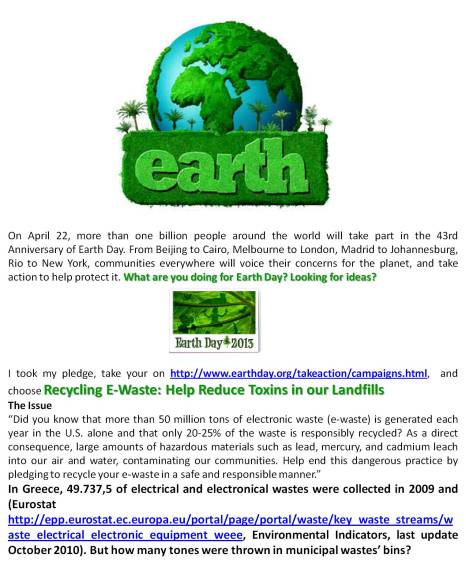 I took my pledge for 2013 u - Composition by Camille Delcour, photo credit: Earth Day 2013 and other