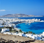 Town and harbour, Mikonos island, Mykonos