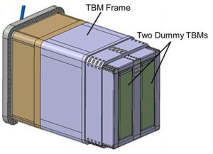 port-plug, The object of the design review: the TBM frame and the dummy modules - Photo Credit: ITER.Org