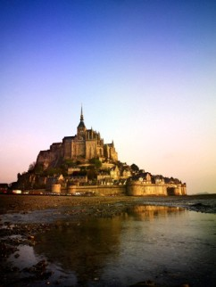 Mont--Saint-Michel at Dawn