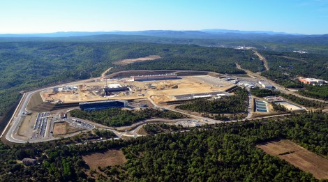 Aerial photo of the ITER construction zone 13/09/2013 Photo Credit: ITER org.