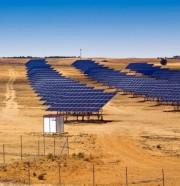 Solar panel field in Asturias Spain