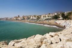 Coastal view of Torremolinos, Malaga, Spain