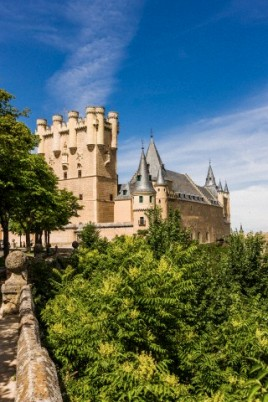 View of the Alcázar (Castle) de Segovia