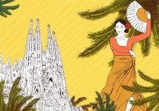 A traditional scenery from Barcelona