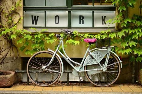 Bike in front of a window